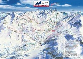 Mapa lyžařského střediska Obertauern