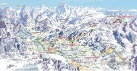 Mapa lyžařského střediska Ofterschwang