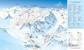 Mapa lyžařského střediska Pitztaler Gletscher