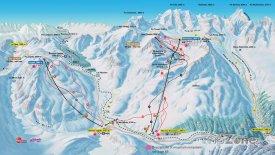 Mapa lyžařského střediska Pontresina - Diavolezza