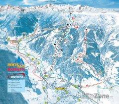 Mapa lyžařského střediska Rauris