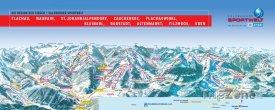 Mapa lyžařského střediska Salzburger Sportwelt