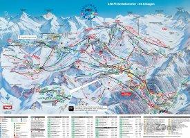 Mapa lyžařského střediska Samnaun
