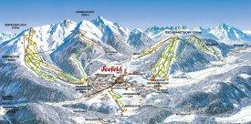 Mapa lyžařského střediska Seefeld