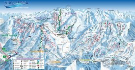 Mapa lyžařského střediska Sestriere