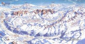 Mapa lyžařského střediska Val di Sole
