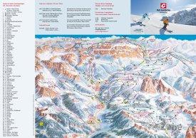 Mapa lyžařského střediska Val Gardena - Sella Rodna