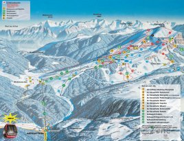 Mapa lyžařského střediska Winkelmoosalm