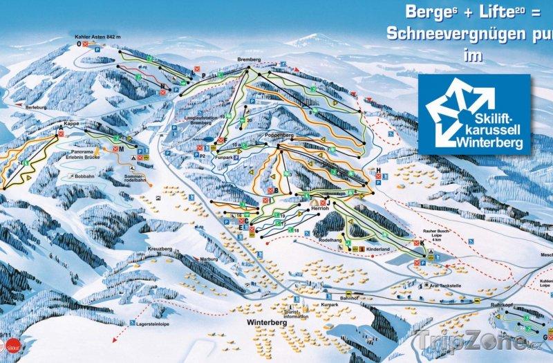 Fotka, Foto Mapa lyžařského střediska Winterberg