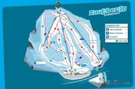 Mapa lyžařského střediska Zauberberg