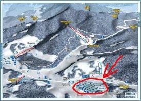 Mapa lyžařského střediska Zawoja
