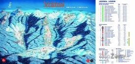 Mapa lyžařského střerdiska Vrátna