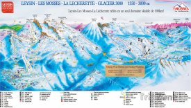 Mapa lyžsřkého střediska Leysin - Les Mosses - La Lécherette