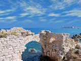 Mersin, pohled na pevnost Kızkalesi