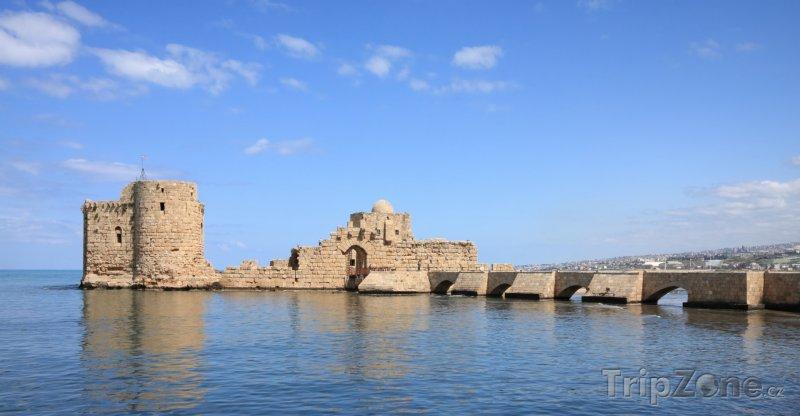 Fotka, Foto Mořský hrad ve městě Sidon (Libanon)