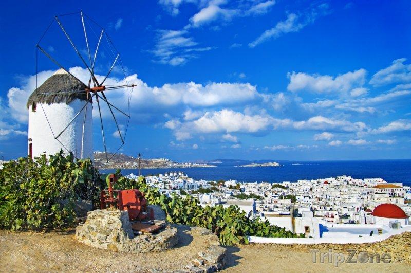 Fotka, Foto Mykonos, mlýn (Řecko)