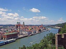 Passau, řeka Dunaj a historické centrum města