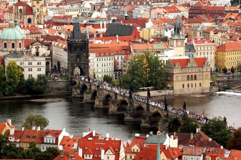 Fotka, Foto Pohled na Karlův Most (Praha, Česká republika)