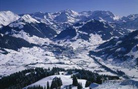 Pohled na městečko Gstaad