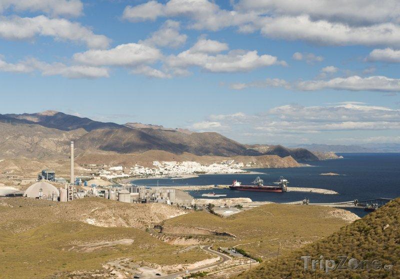 Fotka, Foto Pohled na město Carboneras (Španělsko)