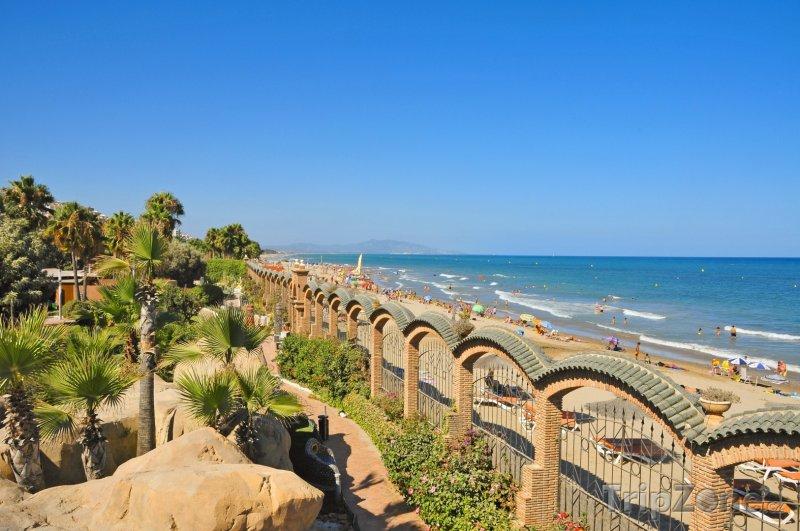 Fotka, Foto Pohled na pláž Marina d'Or (Valencie, Španělsko)