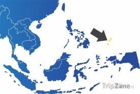 Poloha Palau na mapě