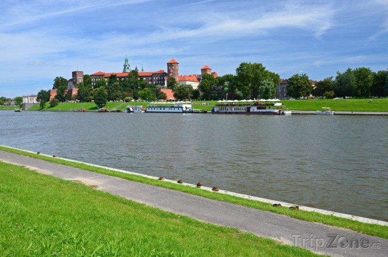 Fotka, Foto Řeka Visla a wawelský hrad (Krakov, Polsko)