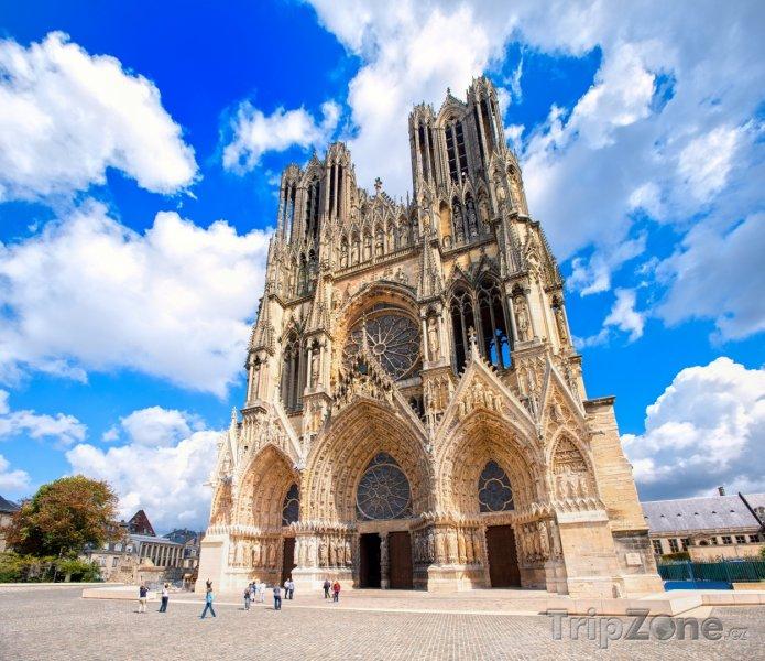 Fotka, Foto Remeš, katedrála Notre-Dame de Reims (Francie)