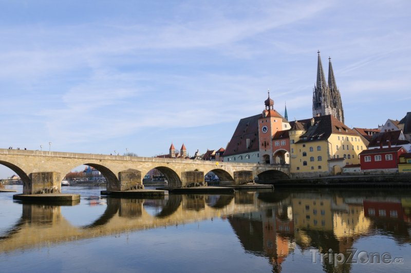 Fotka, Foto Řezno, kamenný most přes Dunaj (Německo)