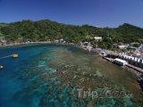 Roatán, korálové útesy u pobřeží