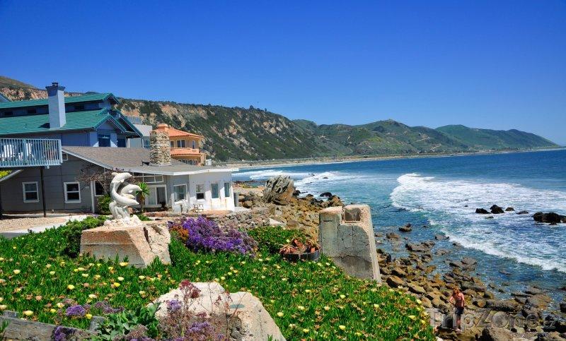 Fotka, Foto Santa Barbara, dům na pobřeží (USA)