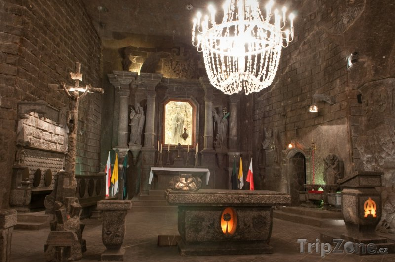 Fotka, Foto Solný důl Wieliczka, oltář (Krakov, Polsko)