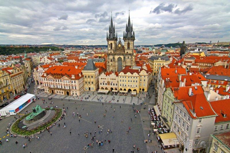 Fotka, Foto Staroměstské náměstí, pohled z věže (Praha, Česká republika)