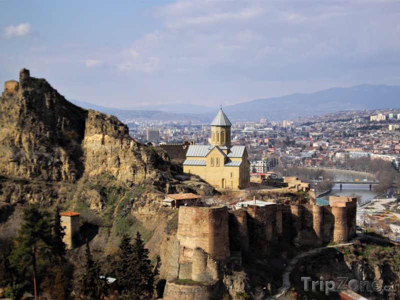 Fotka, Foto Tbilisi, pevnost Narikala nad městem (Gruzie)