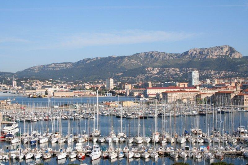 Fotka, Foto Toulon, jachty v přístavu (Francie)