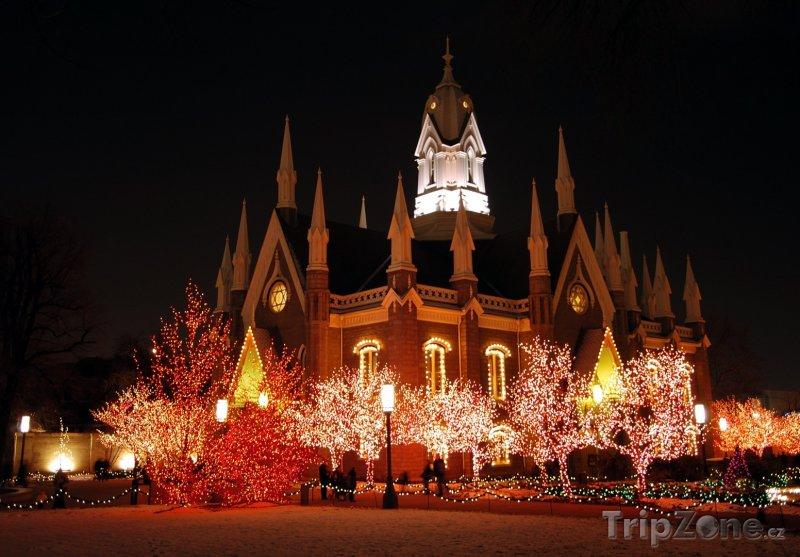Fotka, Foto Aula na náměstí Temple Square (Salt Lake City, USA)