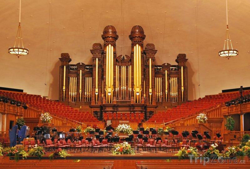 Fotka, Foto Interiér mormonského chrámu Tabernacle (Salt Lake City, USA)