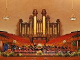 Interiér mormonského chrámu Tabernacle