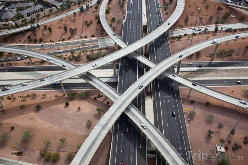 Fotka, Foto Křížení dálnice Interstate 10 a Interstate 17 (Phoenix, USA)