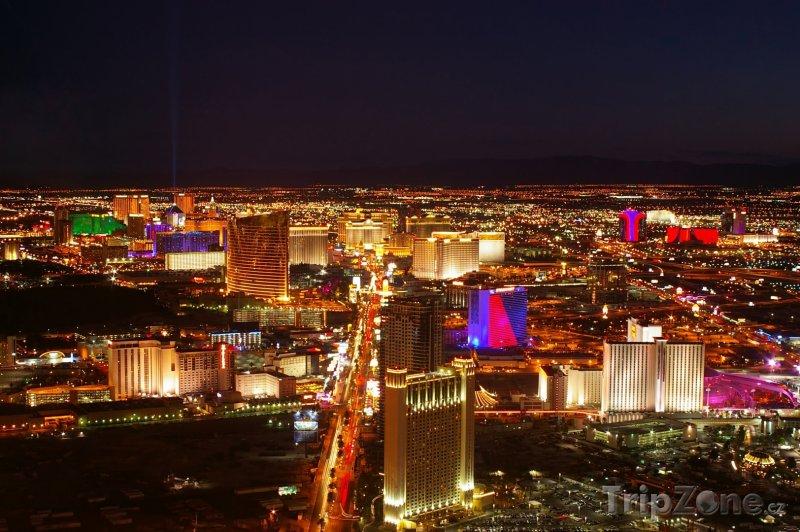 Fotka, Foto Las Vegas Strip v noci (Las Vegas, USA)