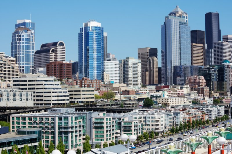 Fotka, Foto Mrakodrapy v centru města (Seattle, USA)