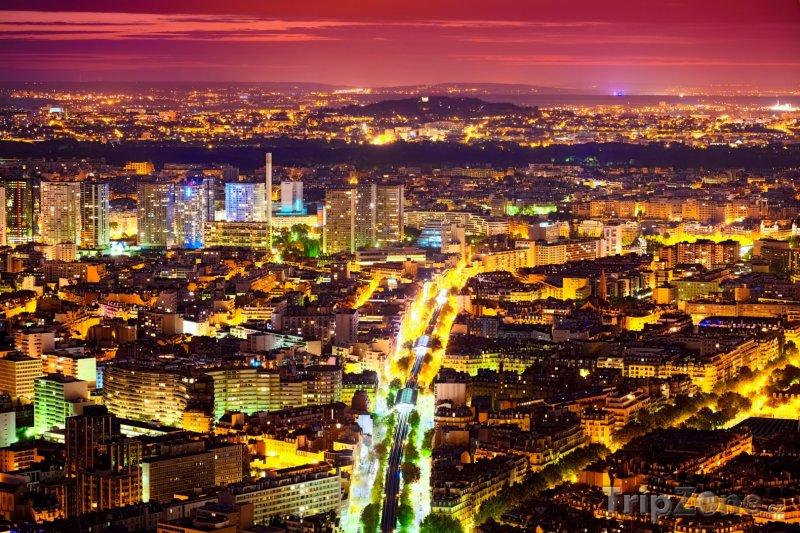 Fotka, Foto Noční Paříž (Paříž, Francie)