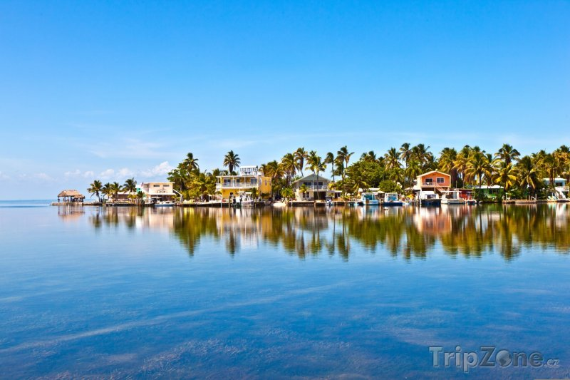 Fotka, Foto Pohled na domy na pláži (Key West, USA)
