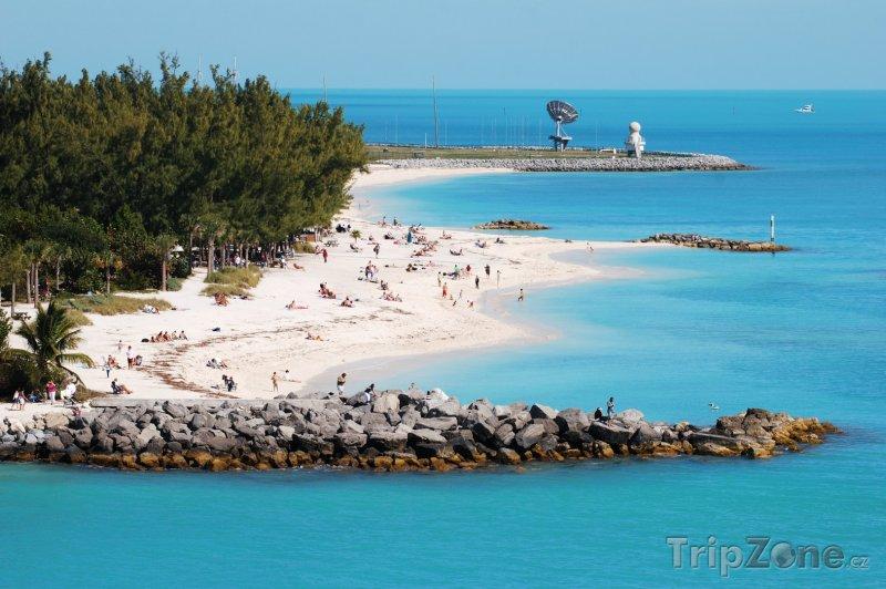 Fotka, Foto Pohled na pláž (Key West, USA)