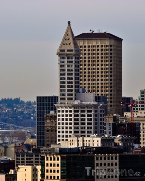 Fotka, Foto Pohled na Smith Tower (Seattle, USA)
