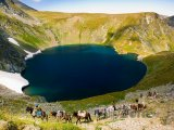 Pohoří Rila, jedno ze sedmi Rilských jezer