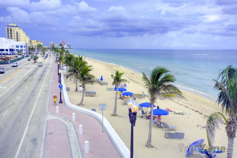 Fotka, Foto Promenáda podél Fort Lauderdale Beach (Fort Lauderdale, USA)