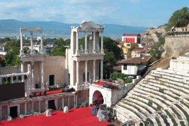 Římský amfiteátr ve městě Plovdiv