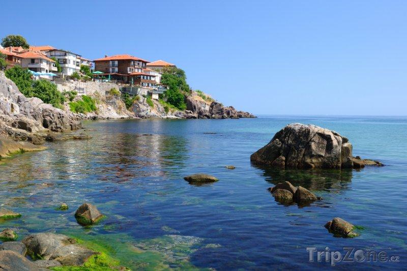 Fotka, Foto Sozopol, domy na pobřeží (Bulharsko)
