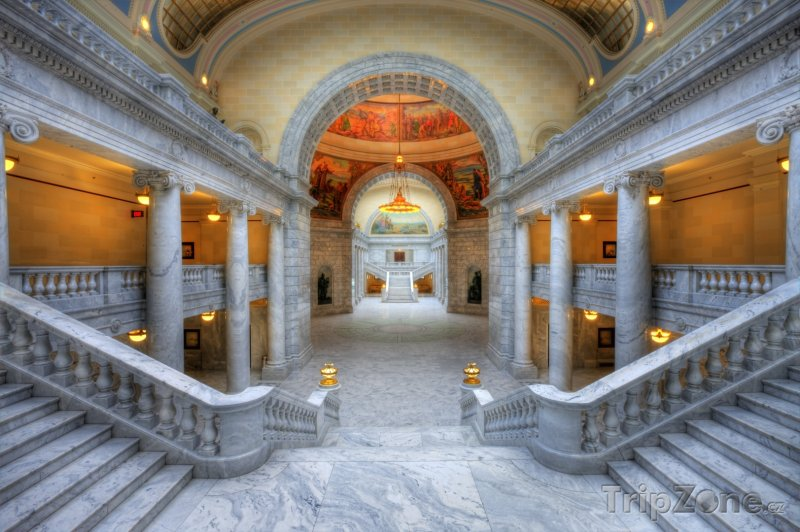 Fotka, Foto Utah State Capitol, interiér (Salt Lake City, USA)